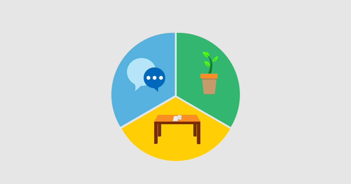 social skills, natural environment training, table work vector icon