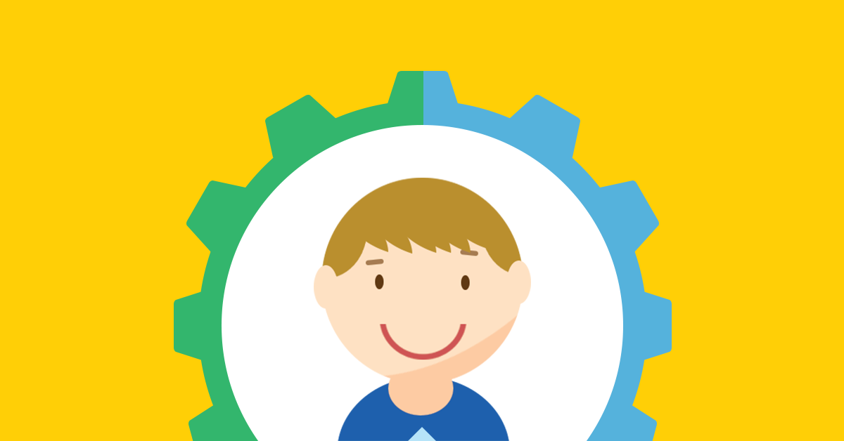 customized to child vector icon